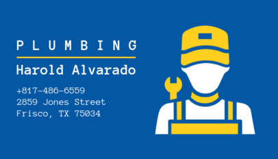 Plumbing Business Card Creator 654c