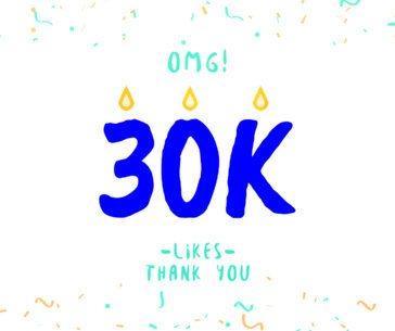 Followers Landmark Celebration Facebook Post Template c640