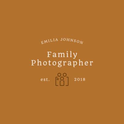 Family Photographer Logo Template 1443d