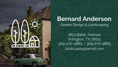 Garden Design and Landscaping Business Card Maker 658