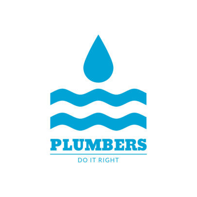 Online Logo Design Template for Plumbers 1450