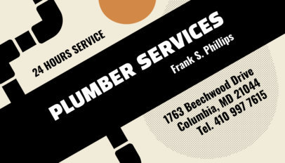 Plumbing Business Card Template 662
