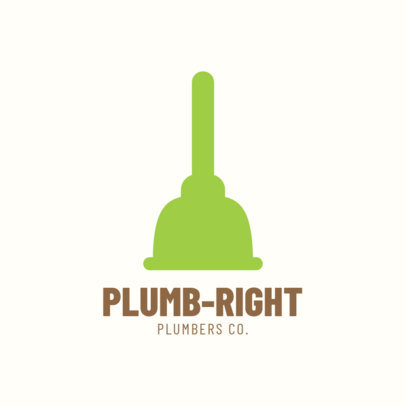 Logo Design Template for Plumbing Company 1450d