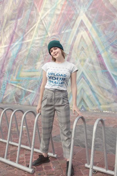 T-Shirt Mockups at an Urban Scenery