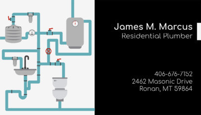 Residential Plumber Business Card Maker 660a