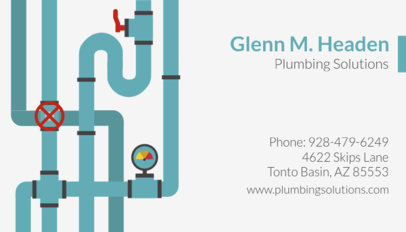 Business Card Template for Plumbing Solutions 660b