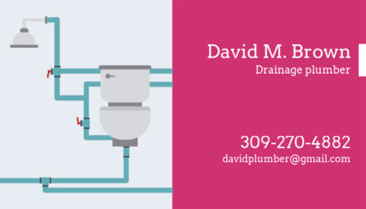 Drainage Plumber Business Card Template 660e