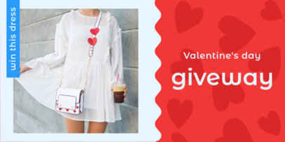 Valentine's Day Giveaway Twitter Post Template 623e