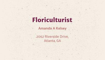 Floriculturist Business Card Maker 666c