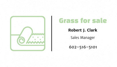 Business Card Maker for a Grass Store 666d