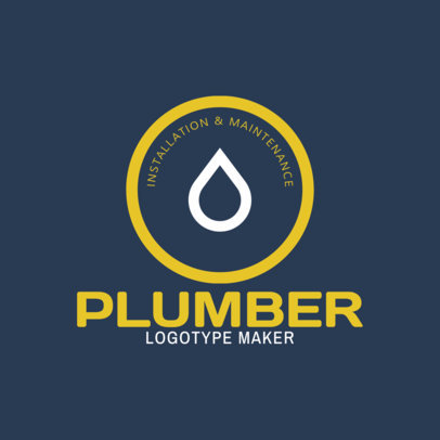 Maintenance and Plumbing Logo Design Template 1440