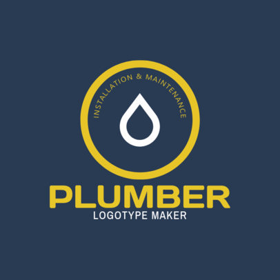 Maintenance and Plumbing Logo Design Template 1440
