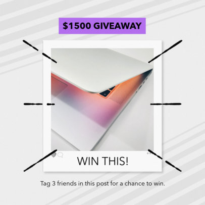 Giveaway Post Maker for Instagram 643c