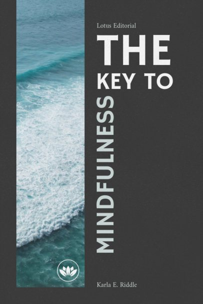 Book Cover Template for a Mindfulness Book 545b