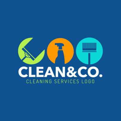 Cleaning Company Online Logo Maker 1456a