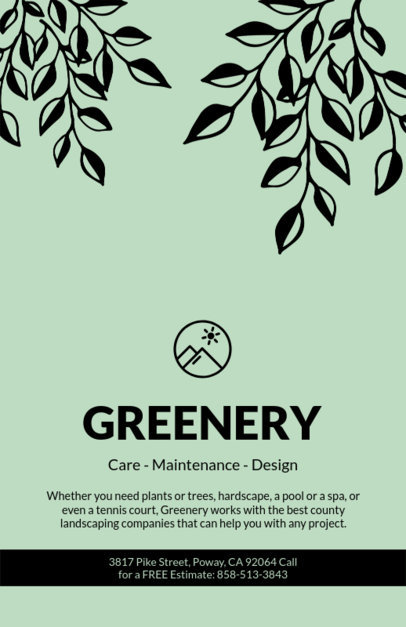 Landscaping Flyer Design Template 674