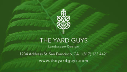 Business Card Maker for a Landscape Design Company 647d
