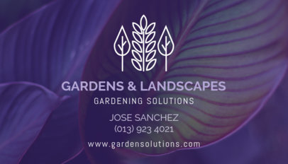 Gardening Business Card Maker 647e