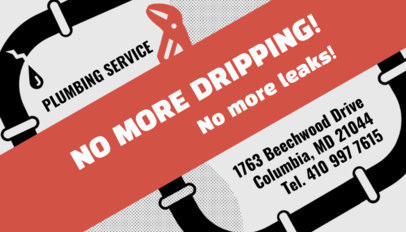 Emergency Plumbing Services : Placeit emergency plumbing and drain business card maker