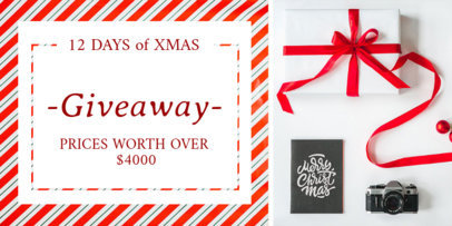 Holiday Giveaway Twitter Post Template b669