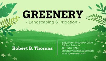 Landscaping and Irrigation Business Card Maker 656a