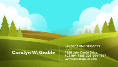 Tree Graphic Business Card Maker for a Landscaping Company 656c