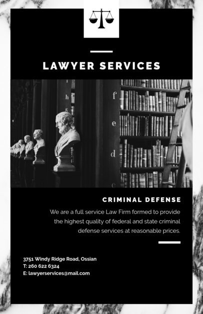 Law Firm Flyer Template 701
