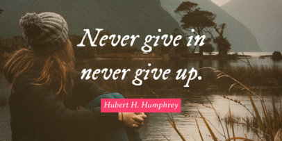 Twitter Post Generator for a Motivational Quote 657c