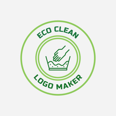 Sustainable Cleaning Business Logo Design Template 1453c