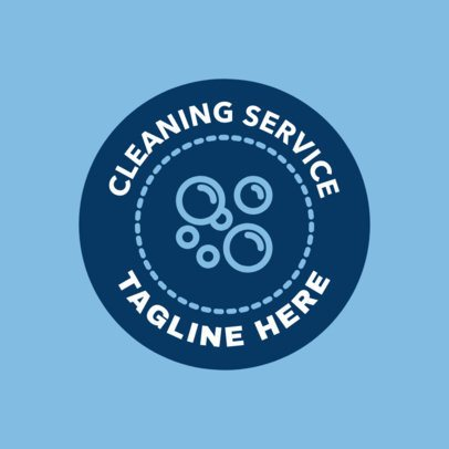 Cleaning Service Logo Maker with Soap Bubble Graphics 1453e