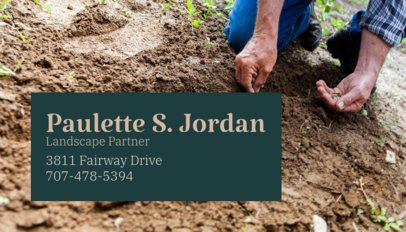 Business Card Maker for a Landscaping Partner 644c