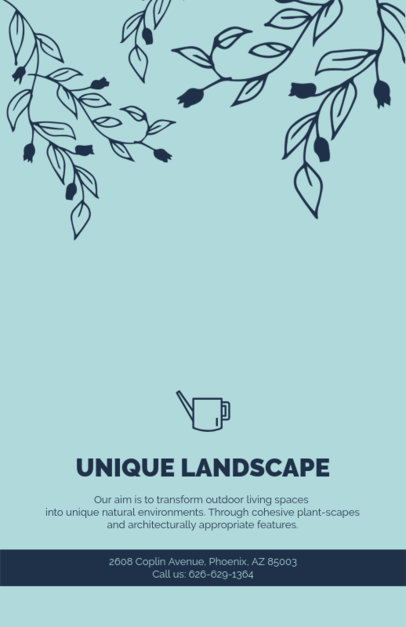 Unique Landscaping Flyer Maker 674d