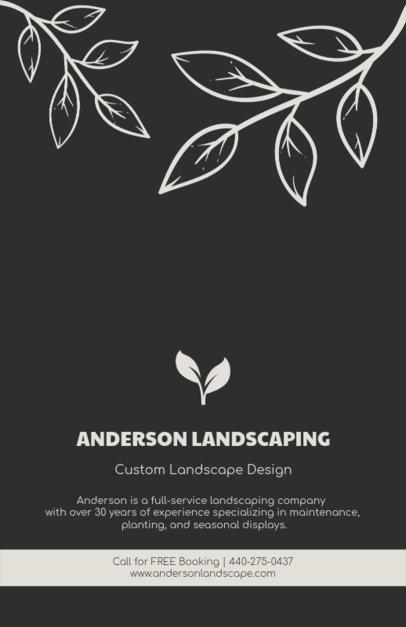 Online Flyer Maker for Landscaping Design 674e