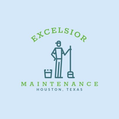 Cleaning Maintenance Online Logo Maker 1454d