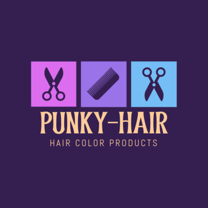 Hair Color Products Logo Template 1469d