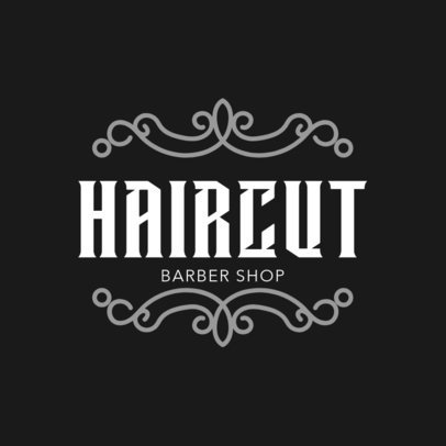 Barbers Shop Logo Template 1472a