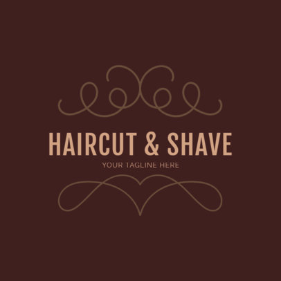 Logo Template for a Haircut and Shave Company 1472d