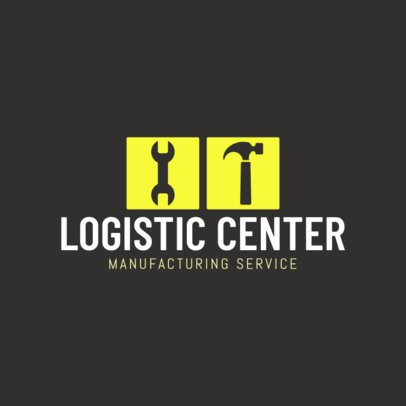 Logo Design Template for Industrial Logistics 1414c