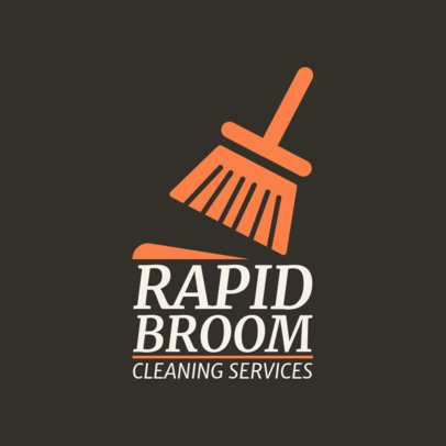 Broom Graphics Logo Maker for Cleaning Companies 1451a