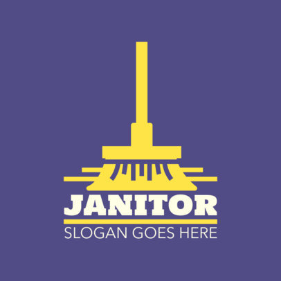 Basic Logo Template for Janitorial Services 1451e