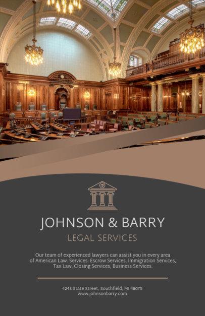 Law Partners Flyer Design Template 691d