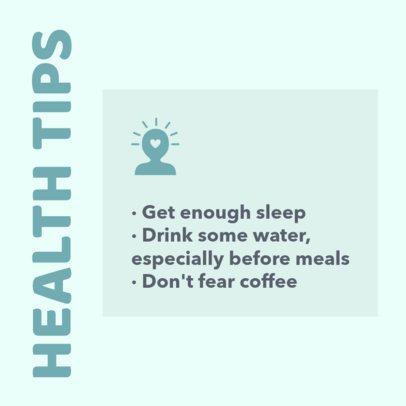 Health Tips Instagram Post Template 649b