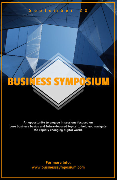 Flyer Maker for Business Conference with Business Images 90d