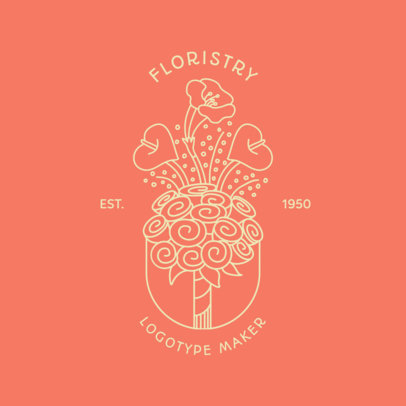 Floral Logo Template for a Florist 1269