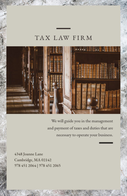 Tax Law Firm Flyer Template 701c
