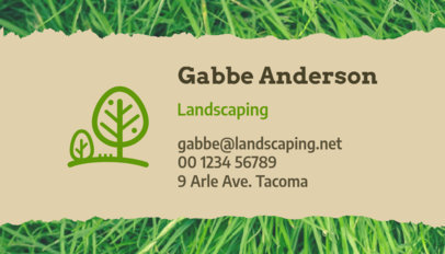 Business Card Template for Landscaping Professionals 650