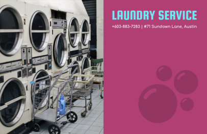 Laundry Service Flyer Design Template 694e
