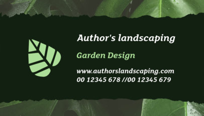 Garden Design Business Card Template 650a