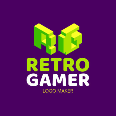 Twitch Avatar Logo Design Template for Retro Gamer 1461c