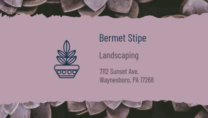 Pretty Landscaping Business Card Generator 650b